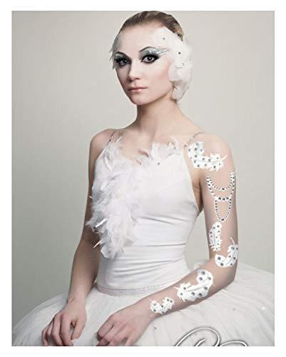 Horror-Shop Plumes Body Art Tattoo Blanc
