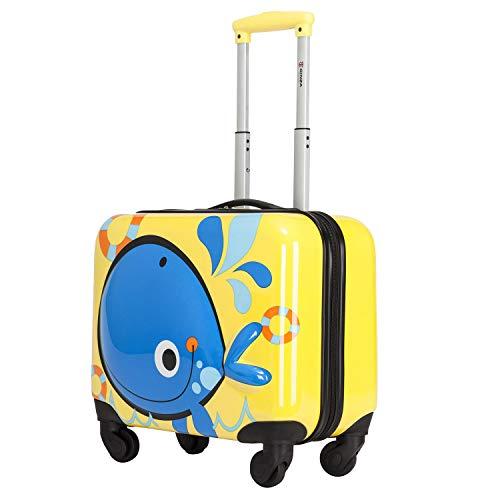 kroeus(クロース)キッズスーツケース 子供用キャリーケース 3D立体図案 動物柄 鯨 機内持込可 27L ABS+PC製 キャリーバー2段調節 キャリーバッグ