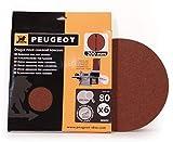 Peugeot 806312 Jeu de 6 Disques velcro pour combiné ponceur Energysand 200ASP ø 200 mm Grain à 80