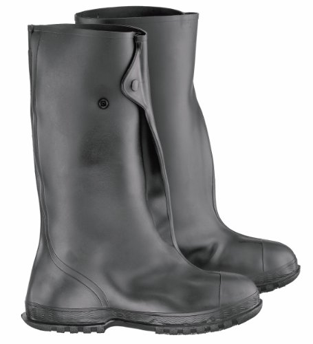 ONGUARD 86030 Heavy Flex-O-Thane/PVC Men's Overshoe with 4-Way Cleated Outsole, 17' Height, Black, Size 2X