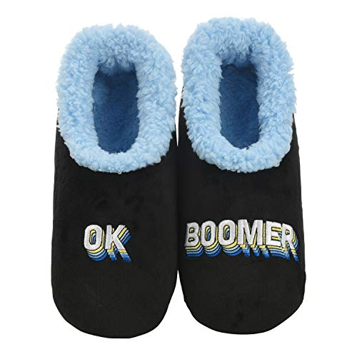 Snoozies Mens Pairables - Mens Slippers - House Slippers for Men - Ok, Boomer - Large