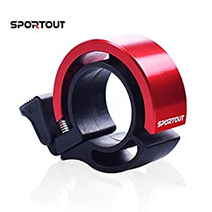 Sportout Mini Aluminiumlegierung Innovative Fahrradklingel Fahrrad Ring mit Lauten Klaren Klaren Kla … (Red)