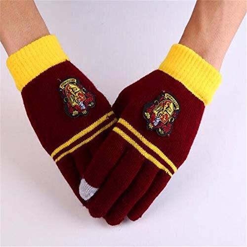 8HAOWENJU Hermine Potter-Touch Handschuhe Socken Gryffindor/Slytherin/Hufflepuff/Ravenclaw Magie Harri Handschuhe Socken Fantastische Tiere Spielzeug (Farbe : 0481)