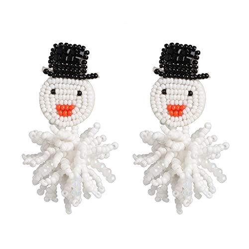 Ruda Beads - Pendientes colgantes con diseño de muñeco de nieve