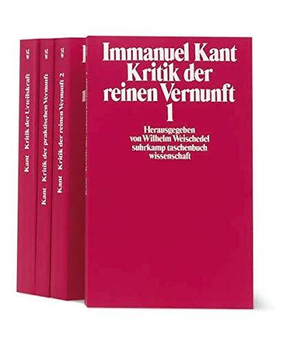 Die drei Kritiken, 4 Bde.