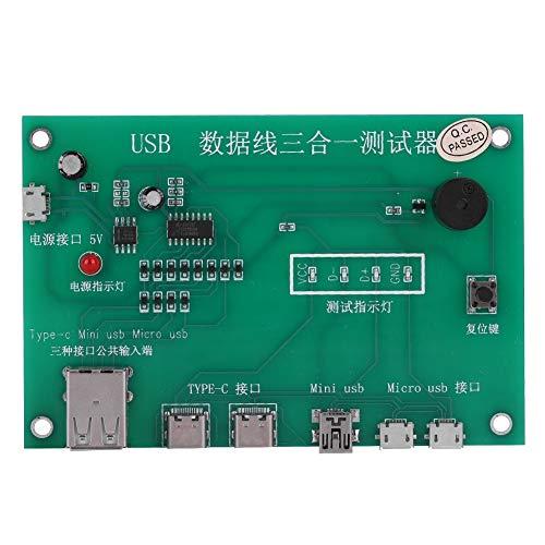 Nosii 3-in-1-Testgerät für Datenkabel Präziser Typ-C- / Mini-USB- / Micro-USB-USB-Kabel Triad Tester