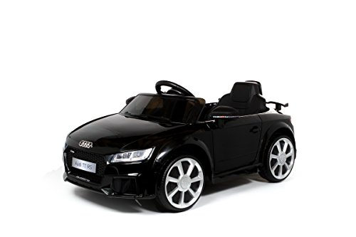 Audi TT RS Licensed Kids Sports Car with Remote Control 12v Electric / Battery Ride on Car Black, LED Light, MP3 Player