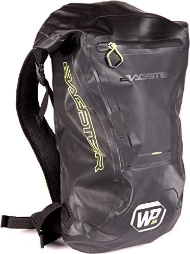 Bagster WP20 - Mochila para moto, color negro y verde neón