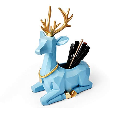 Asttic Personalisierte Elk Deer Resin Makeup Organizer-Bürstenhalter for Augen Lip Pencils Lip...