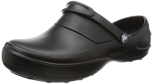 crocs Women's Mercy Clog, Black/Black, 10 M US
