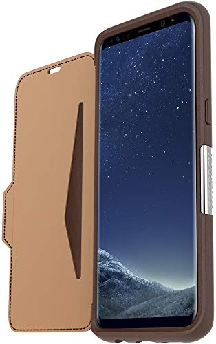 Otterbox Strada Etui Folio en cuir véritable anti-choc fin / élégant pour Samsung Galaxy S8 Marron