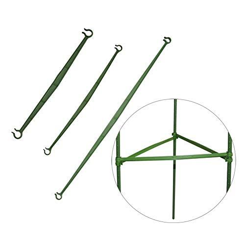 Garden Tools Agricultura Planta de Soporte del Conector de plástico Jardinería Pilar Fijo Varilla jardín Toldo Polo biela 40 PC Easy to Use (Size : 11mm x 470mm)