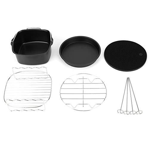 Accessoires Kit Set Air Friteuse, 5 Stuks/Set Pot Pan Stoomrek Friteuse Onderdelen Metalen Houder Spiesrek Cakevat Duurzame Non-stick Pot Lucht Friteuse Accessoire