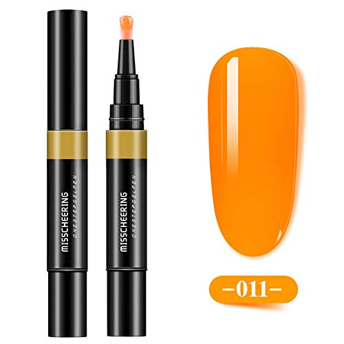 KEERADS One Step Gel 3 en 1 Stylo Vernis à ongles Sans Base Coat Top Coat Besoin Gel Pen Vernis Semi Permanent Soak Off UV/LED Nail (K)
