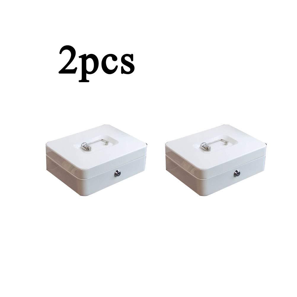 SPAQG Caja de Almacenamiento de Metal sólido Caja de Embalaje Caja de Embalaje Cajón, tamaño 6.7 * 11.8 * 10.2 in, Cubierto, Adecuado para almacenar Documentos, Fotos, artículos Importantes, Blanco: Amazon.es: Hogar