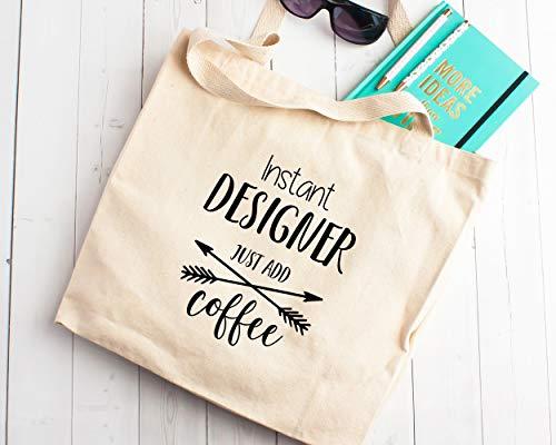 Geschenk-Designer Einkaufstasche aus Segeltuch, für Studenten, Graduate Illustrator, Kaffeebraun
