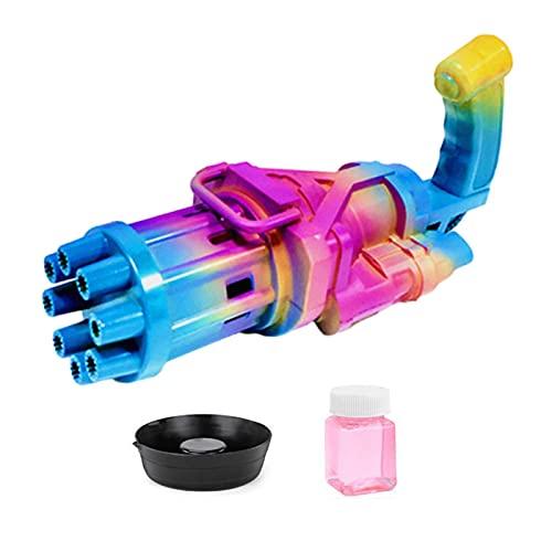 Seifenblasenpistole, Seifenblasenmaschine für Kinder, Seifenblasenpistole mit Seifenblasen Nachfüllflasche, für Kinder Erwachsene für Outdoor Party, Hochzeit, Sommerparty
