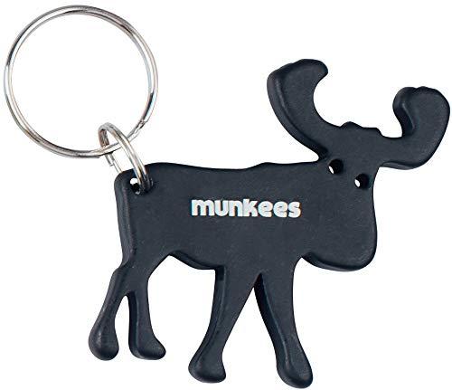 munkees Elch Porte-clés avec décapsuleur, aluminium, Noir