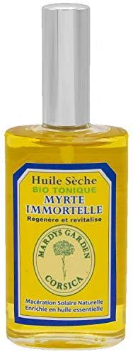 Aceite Seco Natural Siempreviva Amarilla (Helychrisum Italicum) y Mirto (Mirtus Communis) 50ml. Multifunción Cuerpo, Pelo, Cara. Rica en aceites esenciales