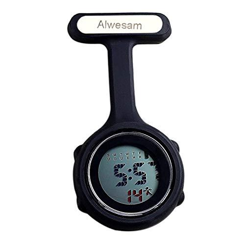Reloj de enfermera digital (Negro)