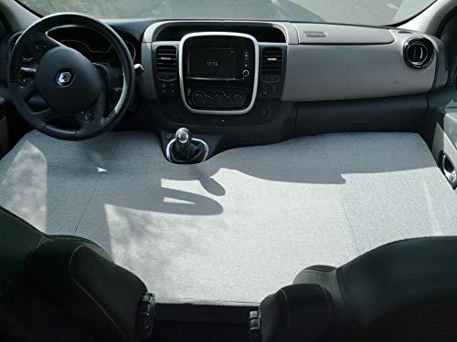 kfoam.es Colchón Plegable Cama Delantera Camper para Renault Trafic (Color Gris)