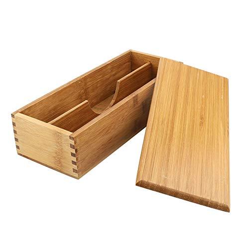 Caja de palillos japoneses, vajilla, cuchara, jaula, caja de almacenamiento de bambú, contenedor, cajón, organizador, caja de almacenamiento de bambú, estuche para bolígrafos, almacenamiento