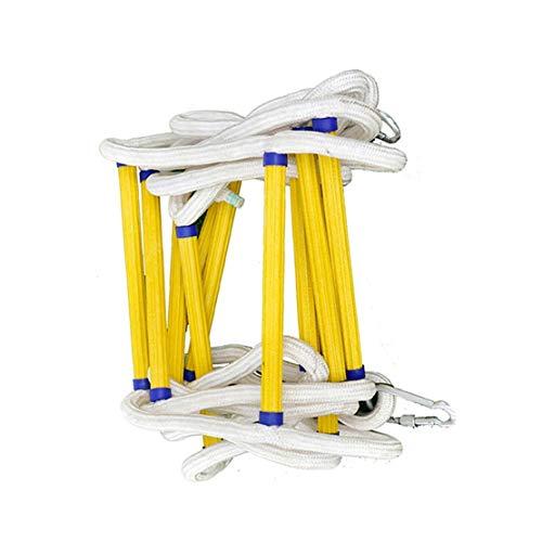 Strickleiter Klettern Strickleiter mit Haken Karabiner Schwer entflammbaren Sicherungsseil Leiter, Soft Nylon Material, for Kinder oder Erwachsene for Baumhaus, Spielplatz, Spiel-Haus ( Size : 30m )