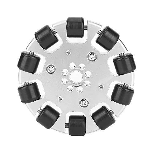 Rueda omnidireccional de 3 pulgadas, rueda de metal duradera Rueda de robot de tamaño pequeño de 3 pulgadas, para robot industrial