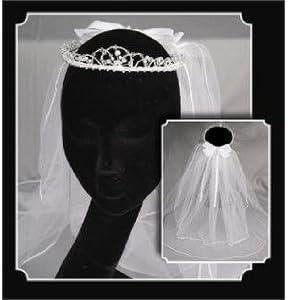 Tanday #5221 Holy First Communion Crystal/Rhinestone Headpiece & Veil