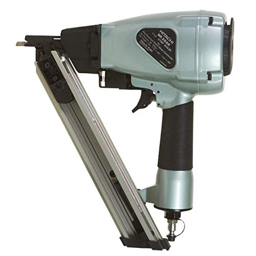 Hitachi NR38AK Positive Placement Metal Connector Nailer, 1-1/2 Nails, Strap-Tite Fastening System, 36 Degree Magazine
