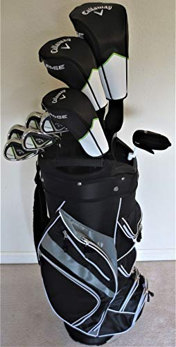 Mens Callaway Complete Golf Set - Driver, 3 Wood, Hybrid, Irons, Putter Clubs Deluxe Cart Bag...