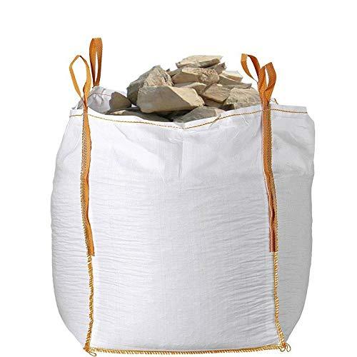 Big bag (FIBC) 80x80x90 cm 1000 Kg Boca abierta fondo plano (pack 2 unidades)