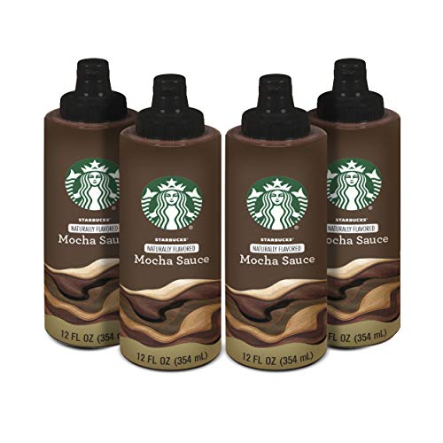 Starbucks Naturally Flavored Coffee Syrup, Sauce, Mocha, Pack of 4