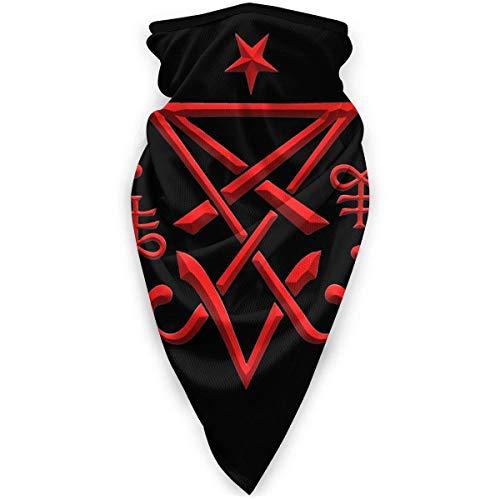XCNGG Máscara Facial Transpirable satánica Sigil Oculto de Lucifer, máscara Deportiva a Prueba de Viento, Bufanda al Aire Libre, Cuello, Turbante cálido, Sombrero, Bufanda