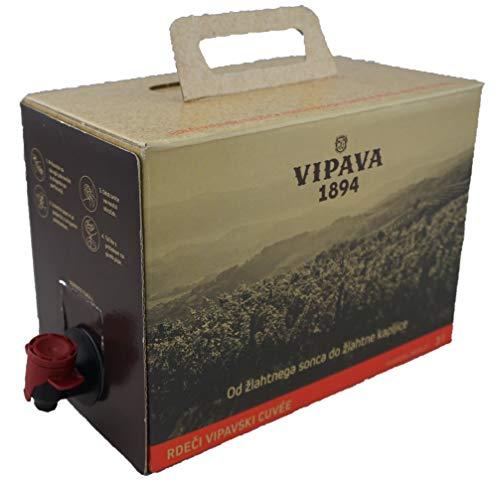Vipava 1894 Rotwein Bag in Box 3 Liter Rotwein Karton 3 L rot – Barbera/Merlot Rotwein in Box 3 Liter (3 l)
