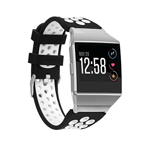 Gransho Compatible con Fitbit Ionic Correa de Reloj, Banda de Reemplazo Silicona Suave Sports Pulsera (Pattern 2)