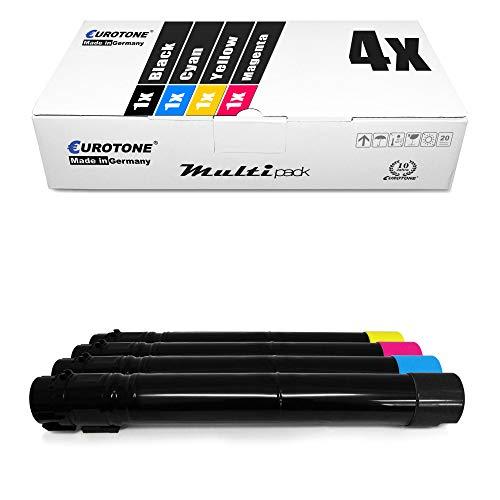 4X Eurotone Toner für Lexmark X954DE X952DHE X952DE X950DHE X954DHE X952DTE X950DE ersetzt X950X2 Set