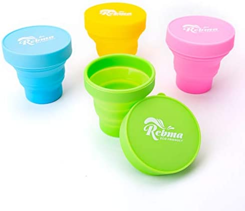 Rebma Products Menstrual Sterilizing Collapsible Silicone Travel Cup Made of Medical Grade Silicone product image