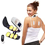Smart Neck Massager for Pain Relief Women Men Cordless Portable Neck Massage with Heat 4 Modes 15 Levels Intelligent Electric Wireless Deep Tissue Neck Relax Massager (White)