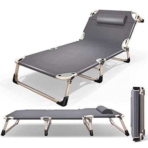 Cama Plegable reclinable Individual para el Almuerzo, Siesta de Oficina, hogar, Emergencia Simple, portátil, acompañante de Marcha, Ajuste Simple de Cuatro velocidades