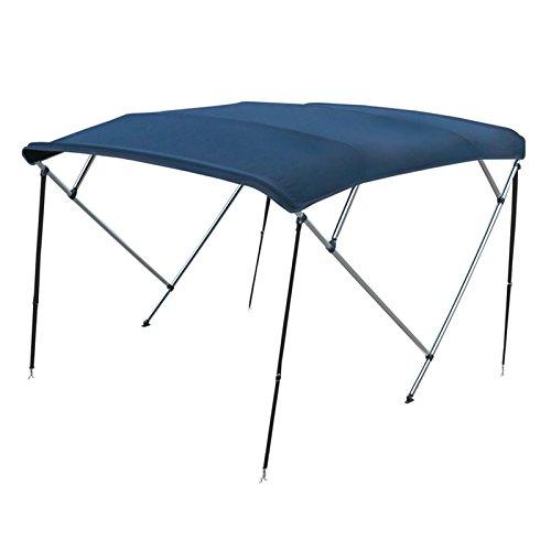Capottina 4 Archi Tenda Tendalino in Tessuto Blu per Barca Gommone 230 240 cm