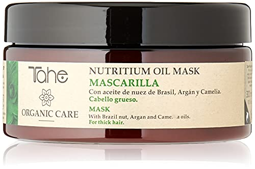 Tahe Organic Care Nutritium Oil Mask Mascarilla Capilar Nutre y Repara Profundamente/Mascarilla para Cabello Grueso y Seco, 300 ml