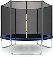 ENKLOV Trampoline, High Quality Kids Outdoor Trampolines Jump Bed With Safety Enclosure Exercise Fitness Equipment (6FT)