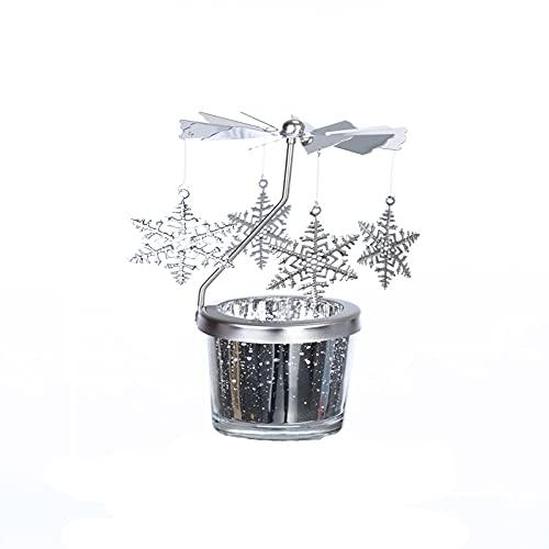 Beizi - Portacandele rotante in stile romantico con lanterna girevole europea, decorazione creativa per compleanno, accessori regalo di compleanno (colore D: D)
