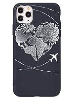 [アット チェルシー]@ CHELSEA 正規品 アイフォンケース スマホケース 新型 iPhone 12 pro Max mini 専用 カバー カメラ型 耐衝撃 黒 世界 地図 飛行機 全4種