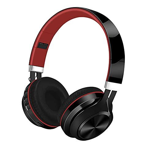 SJZERO Auriculares inalámbricos Bluetooth 5,0, Plegables, con cancelación de Ruido, música, Graves, estéreo, Subwoofer, Auriculares para Juegos para Ordenador iOS Android