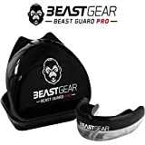 Beast Gear Pro Mouth Gum Shield pour la boxe, le MMA, le rugby, le muay thai, le hockey, le judo, le karaté et les arts martiaux Noir