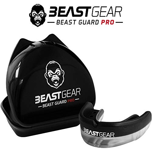 Beast Gear Pro Mouth Gum Shield für Boxen,MMA,Rugby,Muay Thai,Hockey,Judo,Karate und Kampfsport Schwarz