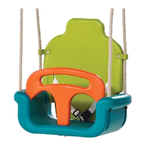 Columpios infantiles Columpio infantil Silla 3 en 1 multifuncional Oscilación del bebé Cesta colgante de jardín al aire libre de alta Volver Niño oscilación del asiento loco y divertido juegos del jug