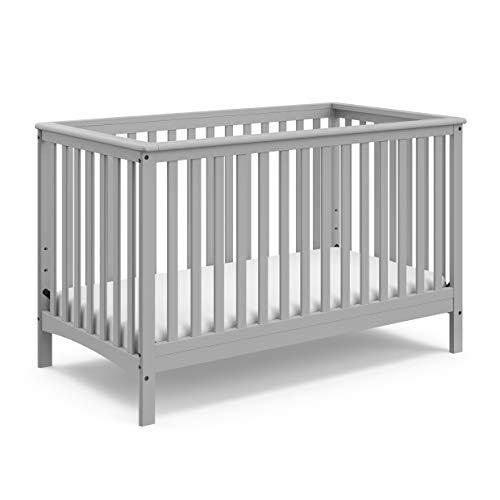 StorkCraft Hillcrest Fixed Side Convertible Crib Pebble Gray